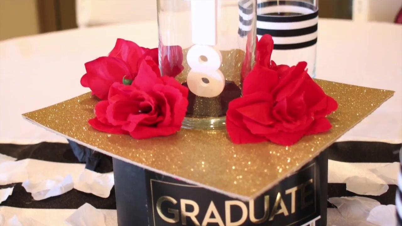 DIY Graduation Centerpiece - YouTube