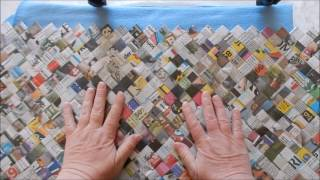 taske lavet af aviser     opskrift på billeder og siden syes på film