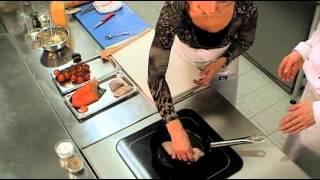 Жареный судак с лососем, рецепт