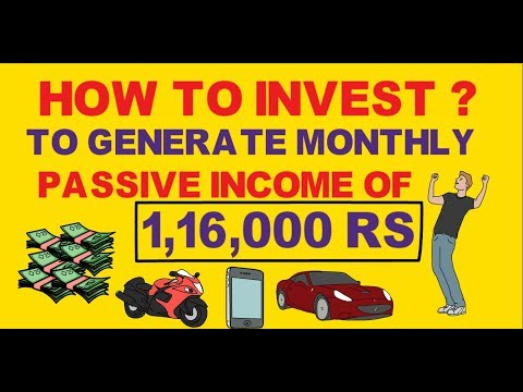 How to invest to generate monthly income every month without working |Passive income strategy
