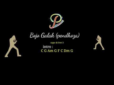 Bojo galak (pendhoza)  chord gitar