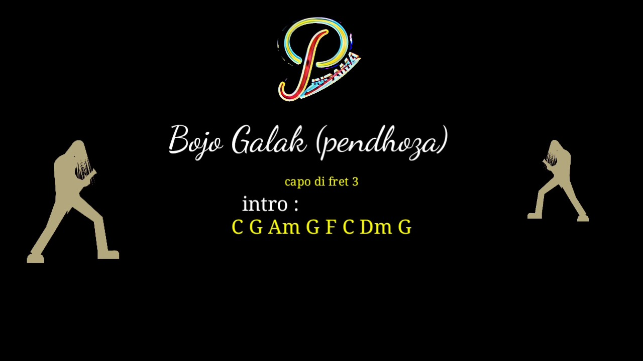 Bojo Galak: Bojo Galak (pendhoza) Chord Gitar