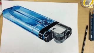 라이터 채색 영상 - 상인오투예비관