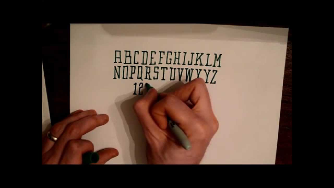 How To Draw A Tall Square Serif Alphabet