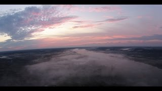 Climbing Up Above The Clouds by Ohio River at Sunrise - DJI Phantom 2+ Drone
