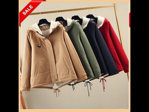 [ZOJ-Online] Áo Khoác Mùa đông Nữ áo Lạnh Vải Kaki Xịn Lót Bông Dày ấm Nữ Dày Hàn Quốc