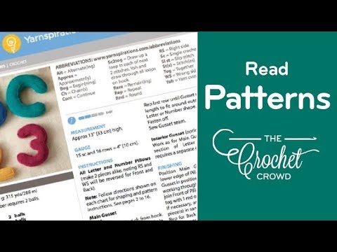 How To Read Crochet Patterns Youtube