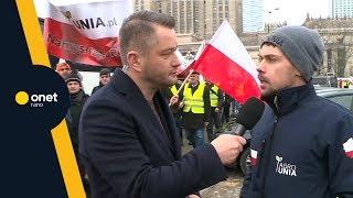 PROTEST ROLNIKÓW w Warszawie. Kołodziejczak: chcemy normalnego sprzedawania | #OnetRANO #WIEM