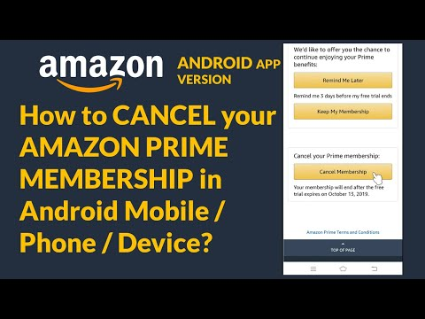 How To CANCEL Your AMAZON PRIME MEMBERSHIP In Android Mobile / Phone / Device?