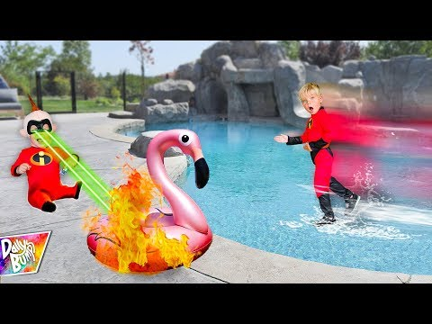 INCREDIBLES 2 Family In Real Life Walking On Water Challenge! 💥 (AMAZING!)