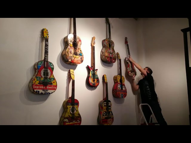 Hanging Dave Newman's wall