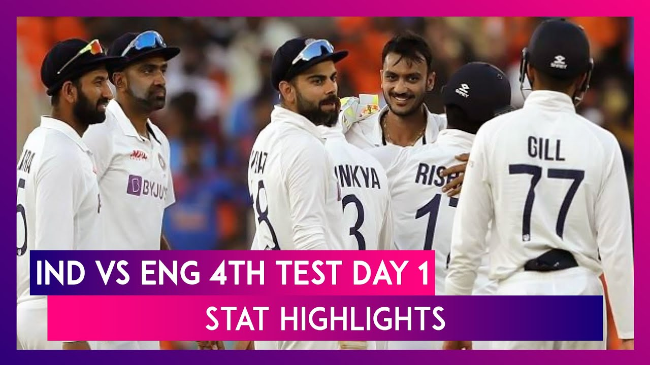 IND vs ENG 4th Test 2021 Day 1 Stat Highlights: Spinners Put India Ahead