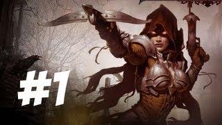 Diablo III Gameplay Part 1 - Starting up a Demon Hunter (PS3)