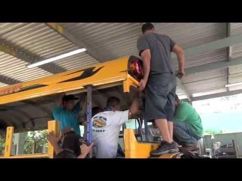 DIESEL ENGINE SCHOOL BUS RACING MAKEOVER