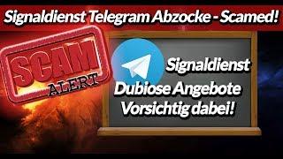Telegram Trading Signal Dienst- Aufpassen!