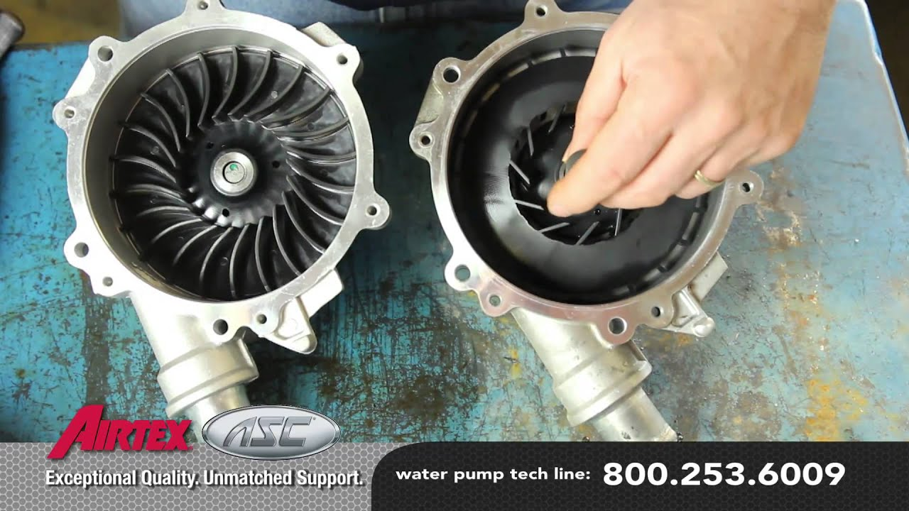 Ford Five Hundred Water Pump Comparison Oe To Aftermarket Wp 2417