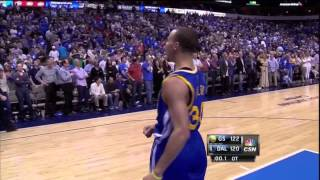 Stephen Curry game winning shot in OT vs Mavericks 4-1-14