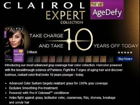 Clairol Expert Collection Age Defy Hair Color Review - YouTube