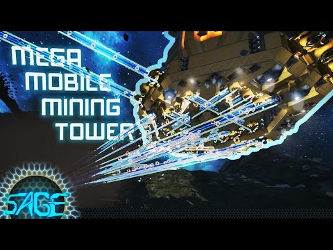 Space Engineers, Mega Mobile Mining Tower