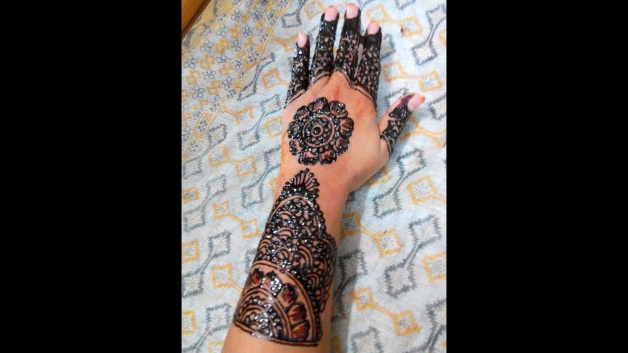 Simple & Cute Arabic Mehendi Design Front Hand Mehndi Design ...