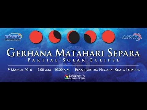 PARTIAL SOLAR ECLIPSE, MALAYSIA - 9 MAC 2016