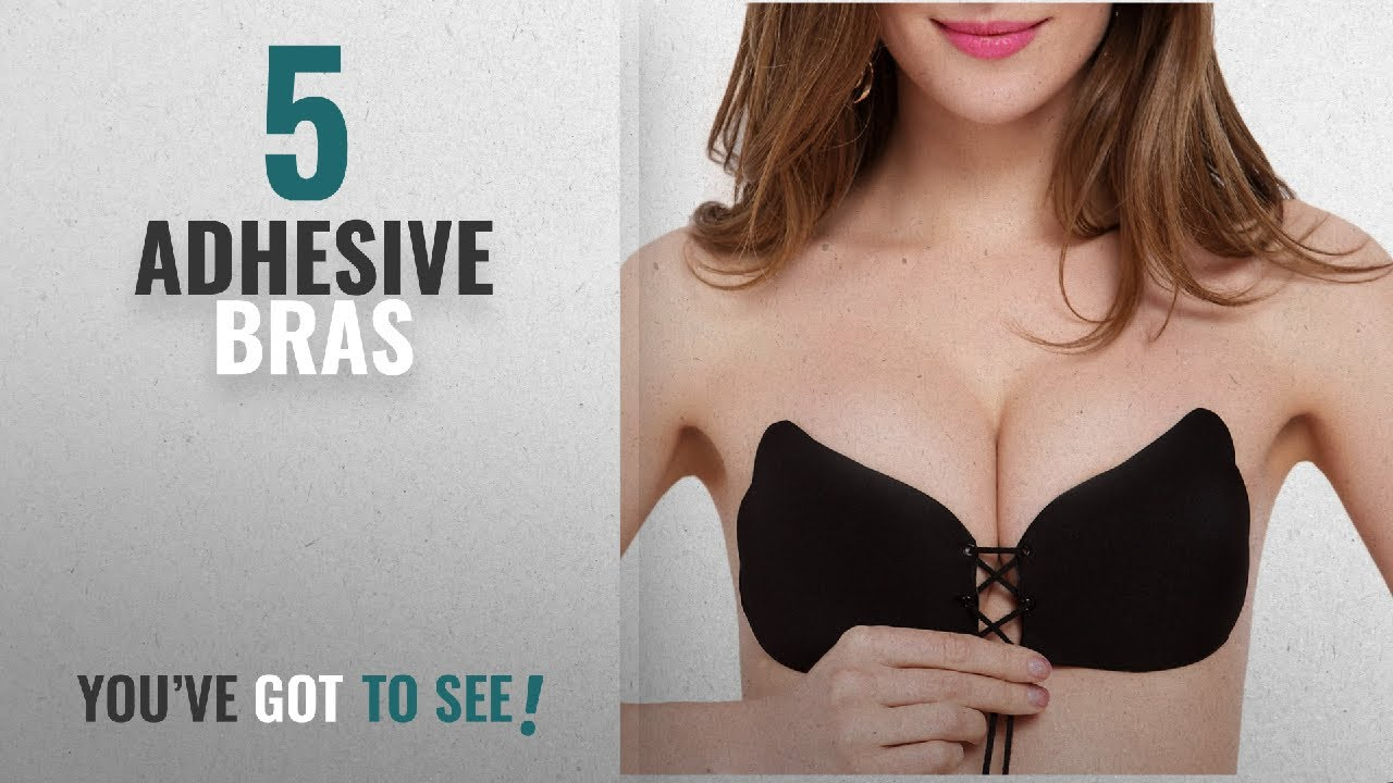 b55cf89bab Top 10 Adhesive Bras  2018   LALABRA Women s Strapless Demi Bra Self  Adhesive Push Up with