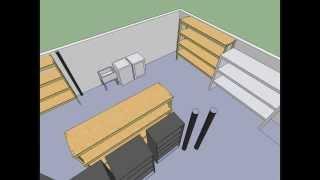 Basement Shelf Design - Google Sketch Up