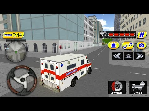 Ambulance Driver Simulator 2017 Helicopter Hero (by Super Mobile Games) Android Gameplay [HD]