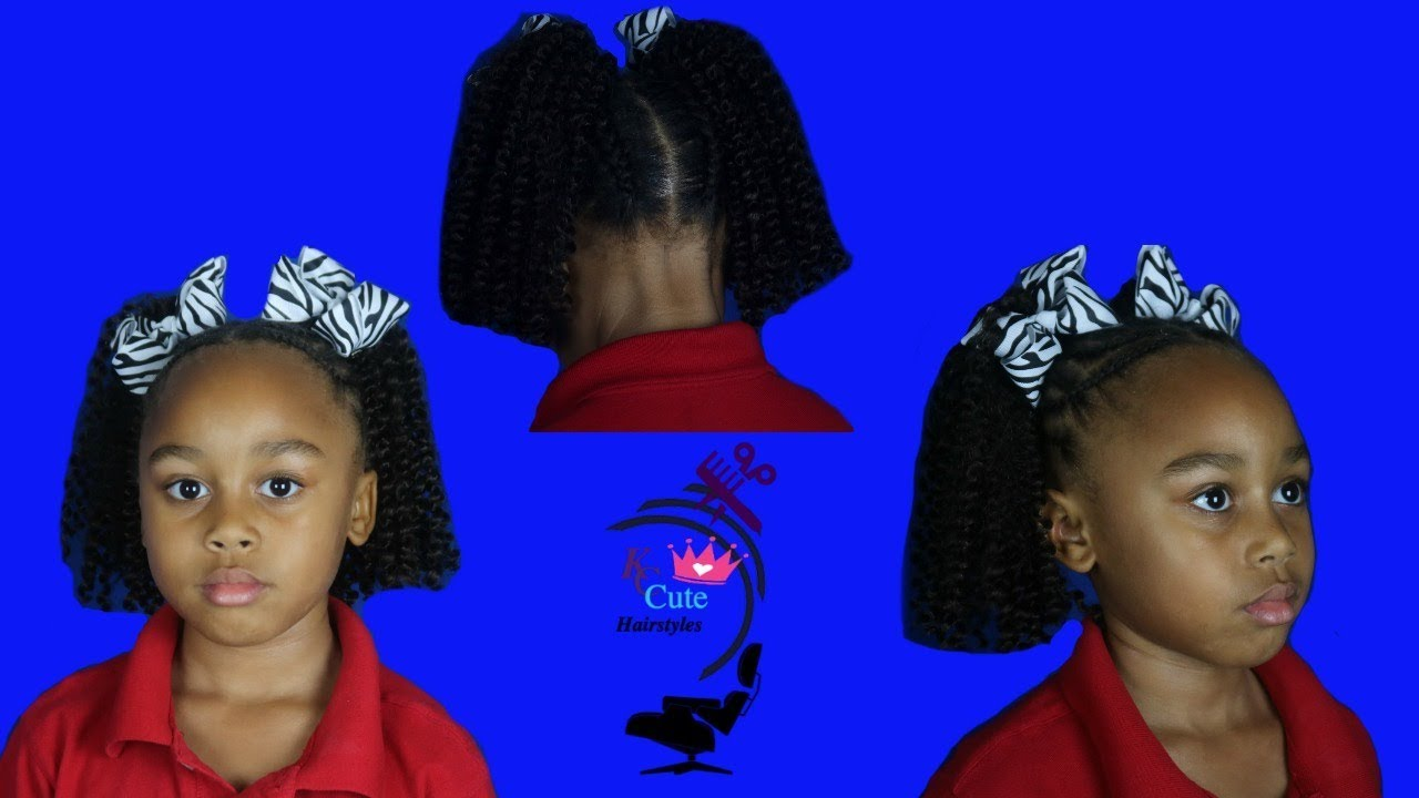 Kc Two Curly Ponytails Crochet Hair Hair Ideas For Girls