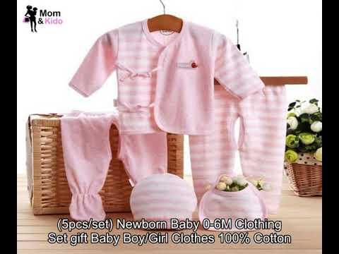 8e7b3a373812 5pcs set) Newborn Baby 0-6M Clothing Set gift Baby Boy Girl Clothes ...