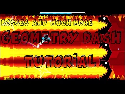 Geometry Dash [2.0] Tutorial Boss,Water,Text all kinds of an