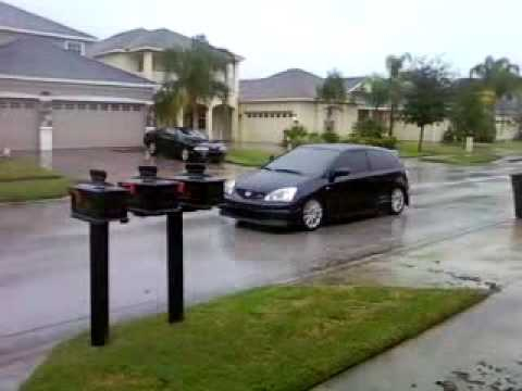 ep3 civic si rainy launch
