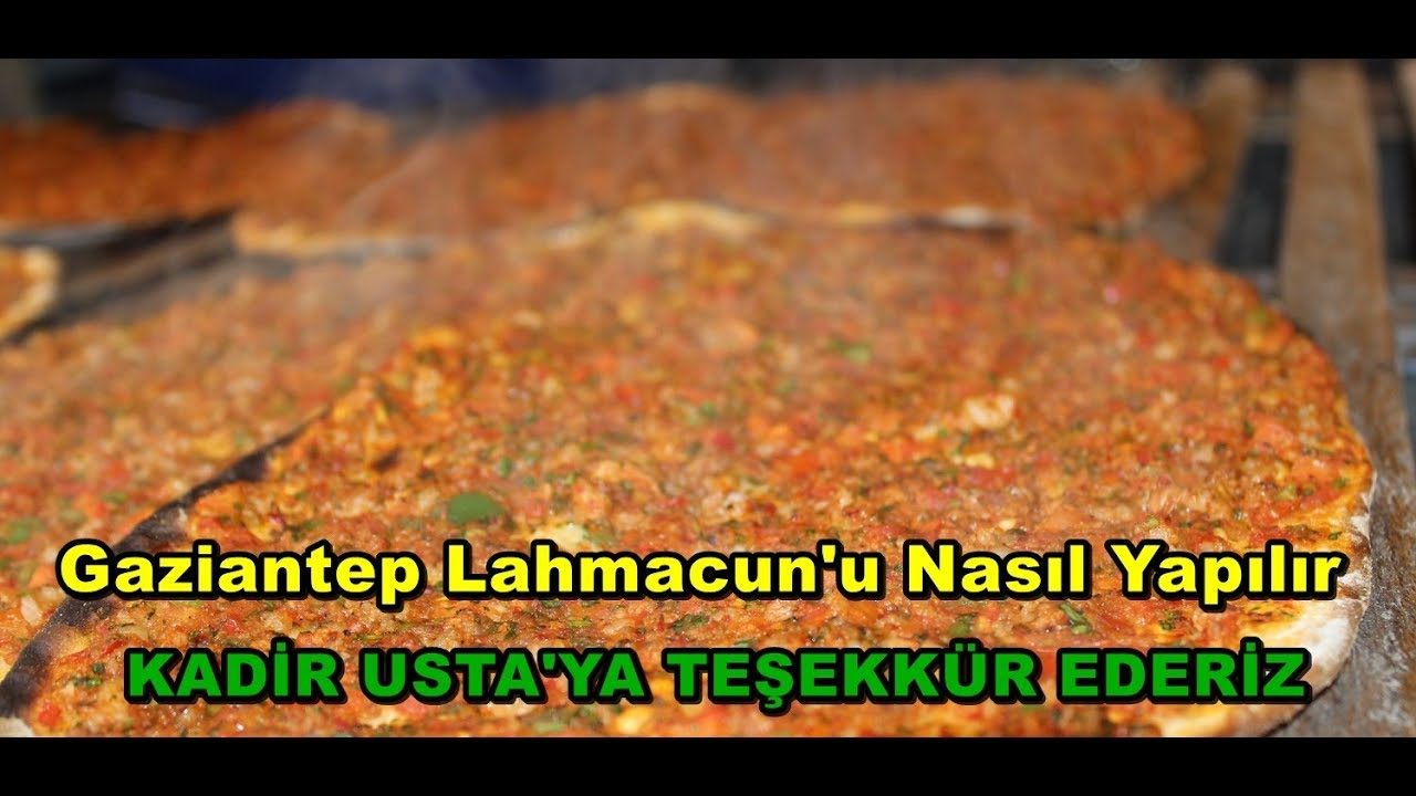 Gaziantep Lahmacunu Nasıl Yapılır w/ Kadir Usta Lahmacun