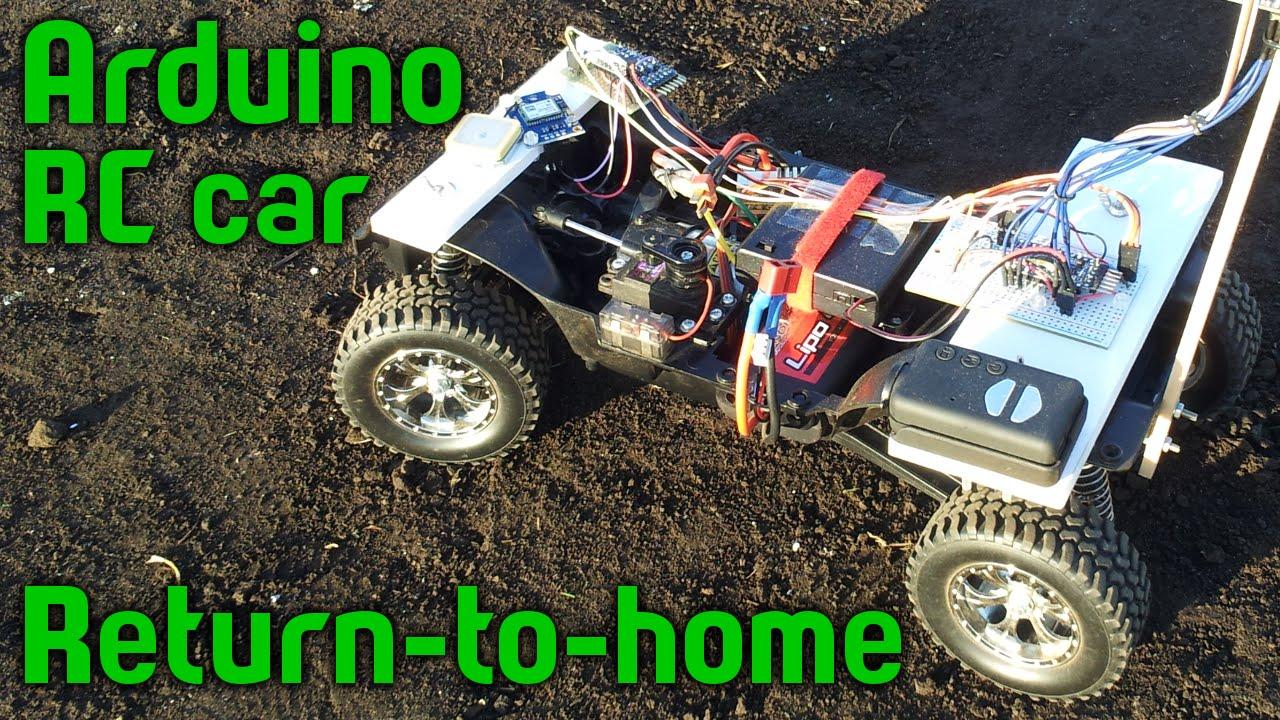 Rc car gps return to home arduino youtube