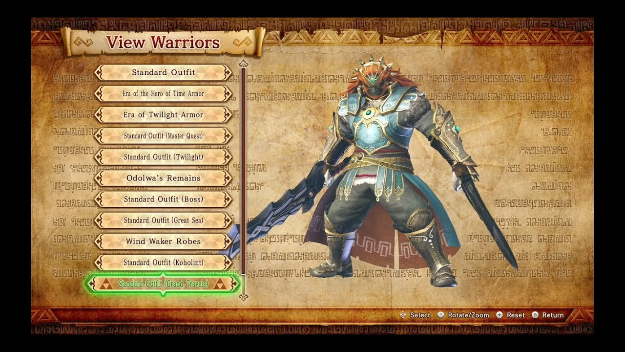 Hyrule Warriors Definitive Edition Demon King Ganondorf Costumes Weapons Special Moves Ganon