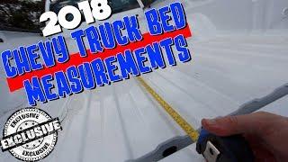 🔵 Measuring New 2018 Chevrolet Silverado / Colorado Beds - Sizes Review 1500 & 2500 Series