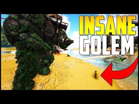 TAMING THE GOLEM BOSS!!! - Ark Survival Evolved Modded Ep 13 ( Ark Primal Fear & More )
