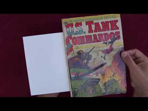 Reading Comics: U.S. Tank Commandos #1, Korean War, 1952, Avon, Kinstler, Chu F. Hing [ASMR]