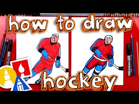How To Draw A Hockey Player