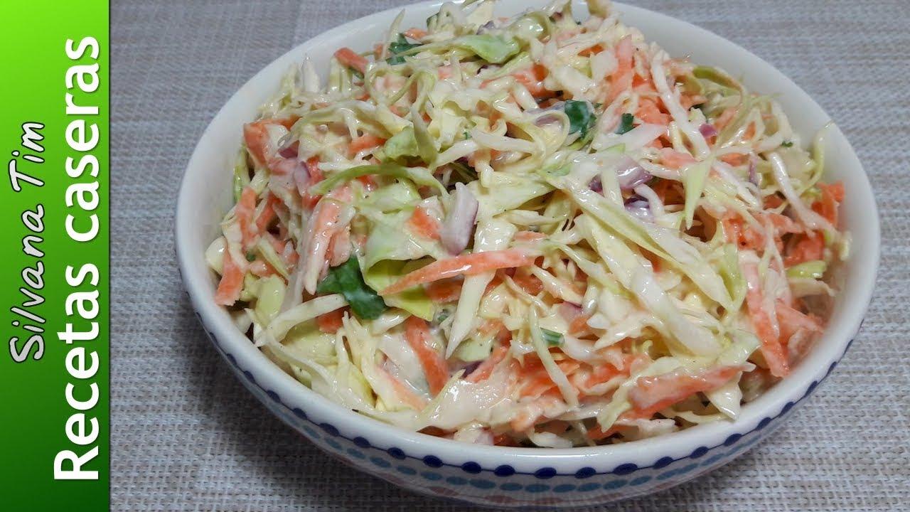 Coleslaw o ensalada de col americana c mo hacer ensalada for Como preparar repollo