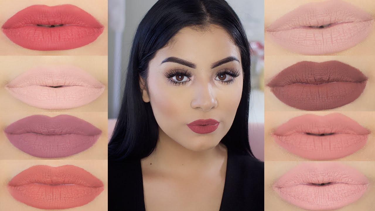 NYX Lip Lingerie Liquid Lipstick Review & Lip Swatches