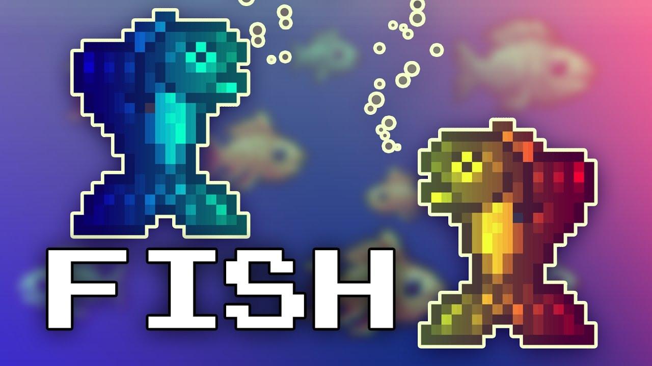Capture The Gem Fish Class Terraria Multiplayer Youtube