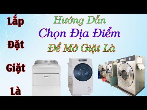 Địa điểm như thế nào thì mở được tiệm giặt là -0968632166 - 동영상