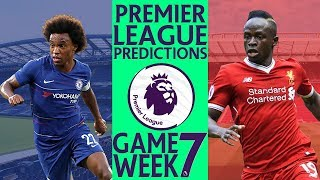 EPL Week 7 Premier League Score and Results Predictions 2018/19
