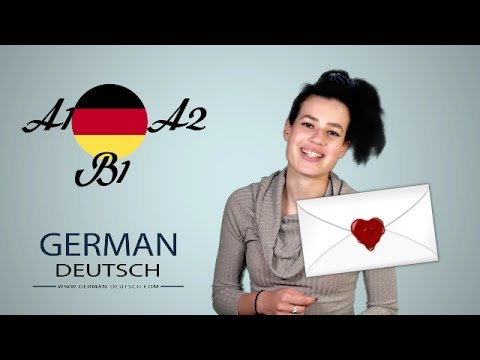 German B1 exam and A2 - write letters. Part 1: Invitations to the party with Bella