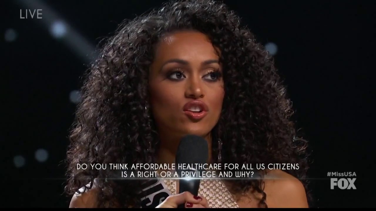 Miss USA says health care is a 'privilege,' not a right, sparking debate during pageant