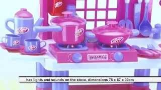 Toy Kitchen For Girls With Lights And Sounds Pots and Accessories Assembly Review