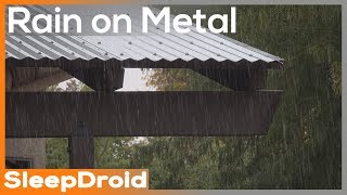 ► Fall asleep fast! 4K Rain Video. 5 HOURS: Rain on Tin Roof. Rain video for sleeping. Real Rain.
