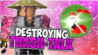 DESTROYING TRASH-TALKERS 2 on 2 in this Bleach Roblox Game