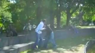 drunk naked girl fighting boy  robert piepcheng,drunk (on drugs) Denhaag Hooligan tieten/tits